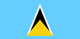 najdziwniejsze flagi świata - Saint Lucia