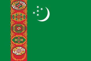 najdziwniejsze flagi świata - Turkmenistan