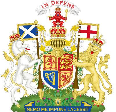 Jednorożec i lew - godło Wielkiej Brytanii